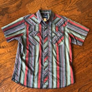 Vintage Wrangler Snap Button Shirt Large